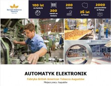 Automatyk Elektronik w Fabryce British American Tobacco w Augustowie