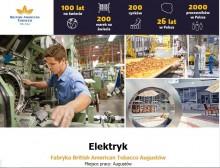 Elektryk w Fabryce British American Tobacco w Augustowie
