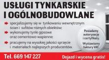 Usługi tynkarskie I ogólnobudowlane
