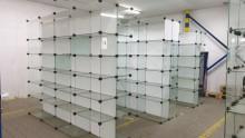 Syndyk sprzeda przęsła szklane (regały szklane)