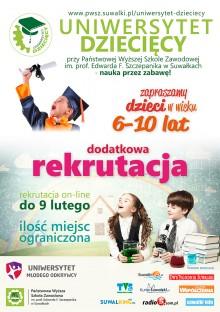 Dodatkowy nabór na Uniwersytet Dziecięcy PWSZ