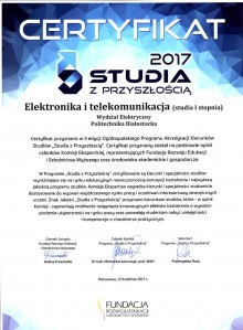 Elektronika i telekomunikacja - Studia z Przyszłością 2017