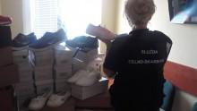 Podrabiane obuwie zatrzymane przez podlaskich funkcjonariuszy KAS