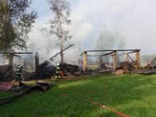 Pożar w Lipszczanach koło Augustowa [zdjęcia]