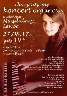 Charytatywny koncert organowy w wykonaniu Magdaleny Lewoc