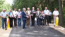Rutka -Tartak. Byly wójt i wicemarszałek na nowej drodze Smolniki - Polimonie - Bondziszki