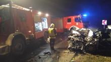 Trwa ustalanie przyczyn tragicznego wypadku w Jeziorkach [zdjęcia]