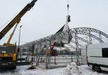 Sztuczne lodowisko w Suwałkach. Tafla pod namiotem