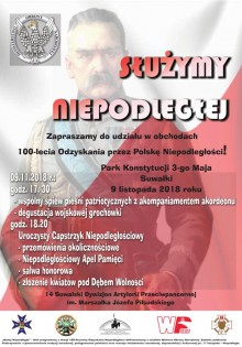 Służymy Niepodległej. Wojskowe obchody 100. rocznicy odzyskania niepodległości w Suwałkach
