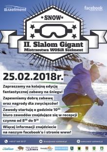 Slalom Gigant z WOSiR Szelment