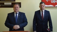Jarosław Zieliński przedstawił kandydata na prezydenta Suwałk. Grzegorz Mackiewicz ma dobre geny