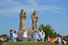 Święci Romuald i Roch górują nad Suwałkami. Uroczyste odsłonięcie pomników [foto i wideo]