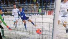 Miedź Legnica - Wigry Suwałki 2:0. Przegrali bardziej z zimą niż z liderem I ligi [tabela]