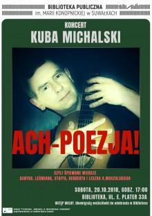 Koncert Kuby Michalskiego w suwalskiej bibliotece