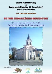 Spotkanie Historia ewangelików na Suwalszczyźnie