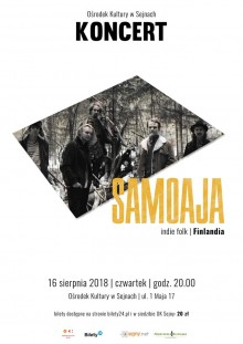 Koncert fińskiego zespołu Samoaja w Sejnach