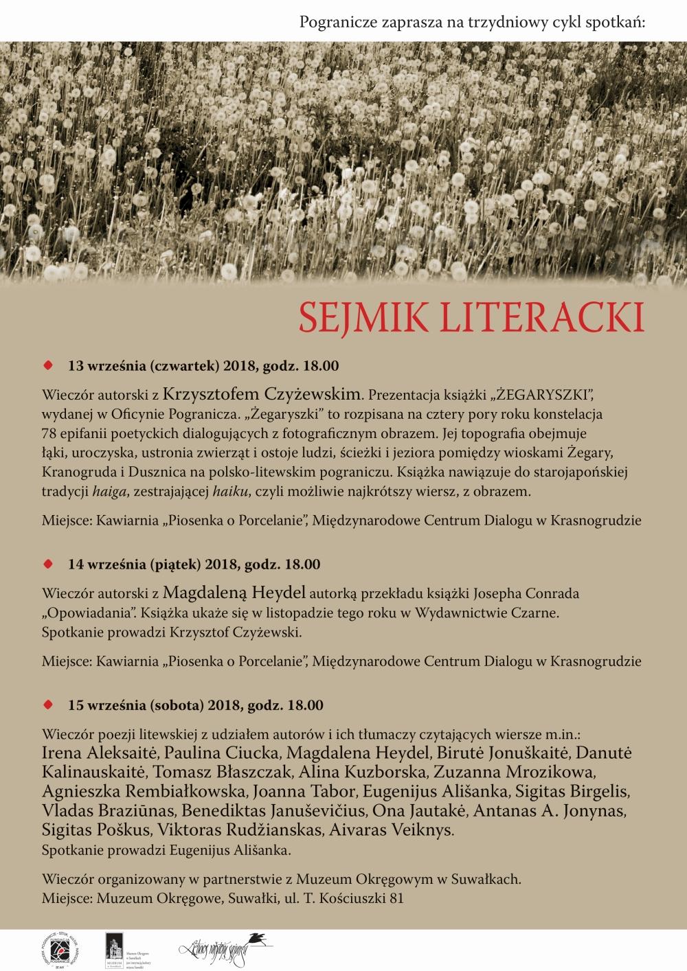 Sejmik Literacki W Krasnogrudzie Suwalki24pl Suwalski