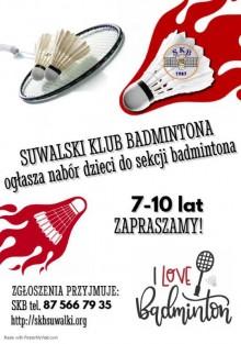 Suwalski Klub Badmintona ogłasza nabór do sekcji badmintona