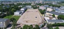 Co się dzieje na budowach? Widać już boisko przy ZST, tunel, ulicę Piłsudskiej [zdjęcia z powietrza]