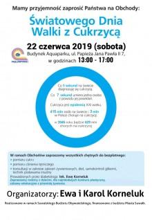 Bezpłatne badania cukru i ciśnienia. Obchody Światowego Dnia Walki z Cukrzycą w Suwałkach