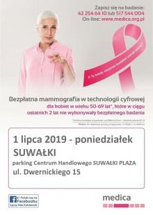 Bezpłatna mammografia w Suwałkach