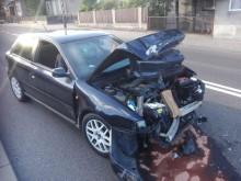 Zderzenie dwóch samochodów osobowych w Sztabinie