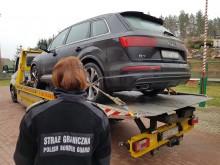 Luksusowy samochód skradziony w Czechach, odnaleziony koło Wiżajn