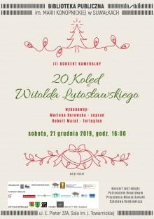 20 Kolęd Witolda Lutosławskiego- koncert w Bibliotece Publicznej w Suwałkach