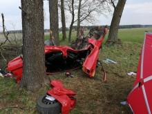 Dwoje suwalczan zginęło w wypadku na trasie Siemiatycze- Bielsk Podlaski [zdjęcia]