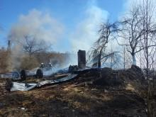 Pożar stodoły w miejscowości Pobondzie [zdjęcia]