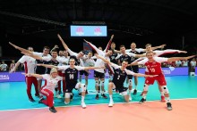 Bartłomiej Bołądź z MKS Ślepsk Malow Suwałki w reprezentacji na siatkarski Final Six Ligi Narodów