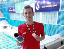 Filip Kosiński pływał w Baku z głową i głową. Teraz myśli o minimum na igrzyska w Tokio [wideo]