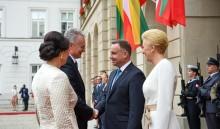 Prezydent Litwy w Warszawie. Gitanas Nausėda spotkał się z Andrzejem Dudą i z   Litwinami z Puńska