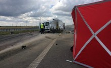 Śmiertelny wypadek na obwodnicy Suwałk. Droga jest zablokowana