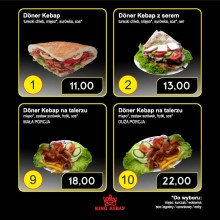 Pięć kebabów