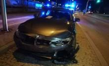 BMW suwalskiej policji uczestniczyło w kolizji