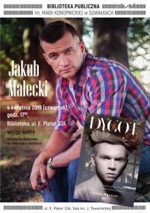 Jakub Małecki w Bibliotece Publicznej w Suwałkach