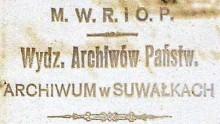 Wystawa Przedwojenne Archiwum Państwowe w Suwałkach