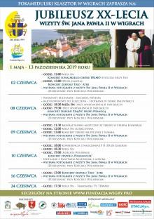 Koncerty, wystawy, warsztaty. Obchody Jubileuszu XX-lecia wizyty św. Jana Pawła II w Wigrach