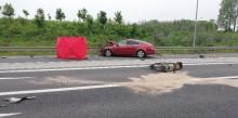 Śmiertelny wypadek na obwodnicy Olecka. Zginął kierujący skuterem [zdjęcia]