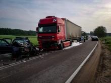 Tragiczny wypadek w Przebrodzie. Nie żyje kierowca Volkswagena [zdjęcia]