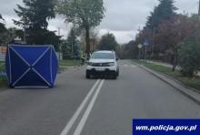 Dwa potrącenia w Olecku. Jedno śmiertelne [zdjęcia]