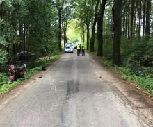 Powiat olecki. Zderzenie roweru i motoroweru