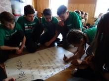 Młodzież ze Słobódki na Ty ze sztuką. Uczniowie uczą się i odpoczywają koło Zakopanego [foto]