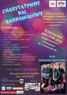 Charytatywny bal na rzecz dzieci i młodzieży z SOSW w Suwałkach. Gwiazdą zespół Weekend