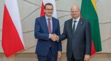 Premier Mateusz Morawiecki na otwarciu TVP Wilno. Rozmowy z litewskim premierem