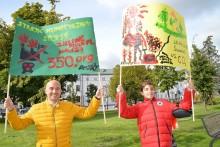 Młodzieżowy Strajk Klimatyczny. W Suwałkach Bartosz z tatą i babcią [zdjęcia]