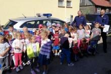 Przedszkolaki z Bakałarzewa zwiedzały posterunek [zdjęcia]