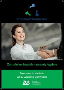 Tydzień Przedsiębiorcy – ZUS dla Biznesu skorzystaj z wiedzy ekspertów – przyjdź na szkolenie