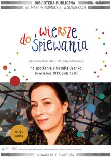 Spotkanie z Natalią Usenko w Bibliotece Publicznej w Suwałkach